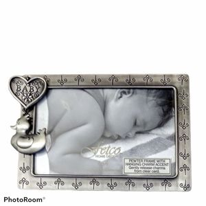 Fetco Pewter Frame with Hanging Charm